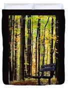 Fall Woods In Michigan Duvet Cover