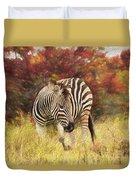 Fall Zebra Duvet Cover