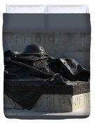 Fallen Artilleryman Duvet Cover