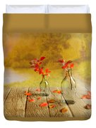 Fallen Leaves Duvet Cover by Veikko Suikkanen