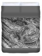 Fallen Tree Bark Bw Duvet Cover