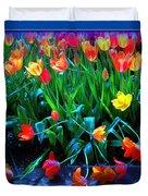 Fallen Tulips Duvet Cover