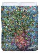 Falling Flowers Duvet Cover