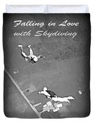 Falling In Love With Skydiving Duvet Cover