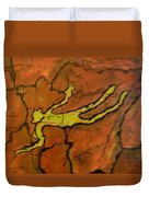 Falling Man Rock Art Duvet Cover