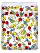 Falling Pills Duvet Cover