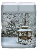 Falling Snow - Winter Landscape Duvet Cover