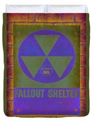 Fallout Shelter Abstract Duvet Cover
