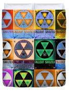 Fallout Shelter Mosaic Duvet Cover