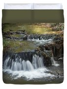 Falls Along Big Stone Lake Duvet Cover