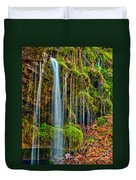 Falls And Moss Duvet Cover