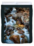 Falls And Rocks Duvet Cover