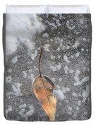 Fall's Fallen Meets Spring Sunshine Duvet Cover