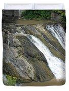 Falls On The Coeyman Creek Duvet Cover
