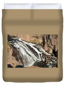 Falls On The Gibbon River In Yellowstone National Park Duvet Cover