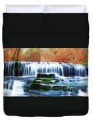 Falls Panorama-features In Groups Rivers Streams And Waterfalls-visions Of The Night Duvet Cover