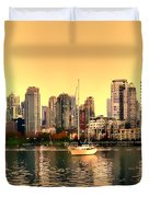 False Creek Triptych Centre Panel Duvet Cover