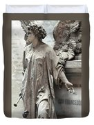 Famiglia Cavaliere Del Francesco Canti Memorial Marker Detail I  Duvet Cover