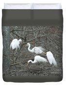 Family Affair Egrets Louisiana Duvet Cover