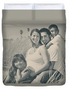 Family Beach Day Duvet Cover