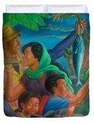 Family Bonding In Bicol Duvet Cover