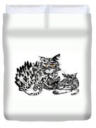 Family Cat Duvet Cover