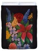 Family Flowers Duvet Cover