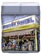 Family Fun - Coney Island - Brooklyn - New York Duvet Cover