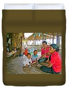 Family In Countryside Outside Of Siem Reap-cambodia Duvet Cover
