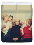 Family Duvet Cover by Laurie Search