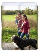 Family Portraits Duvet Cover