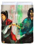 Family Samurai  Duvet Cover