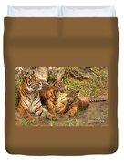 Tiger Family Duvet Cover
