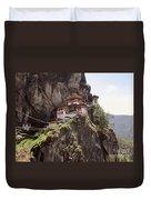 Famous Tigers Nest Monastery Of Bhutan 12 Duvet Cover