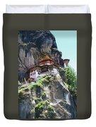 Famous Tigers Nest Monastery Of Bhutan 7 Duvet Cover