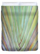 Fan Palm Abstract 2 Duvet Cover