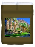 Fan Palms By The Creek In Lower Palm Canyon In Indian Canyons Near Palm Springs-california Duvet Cover