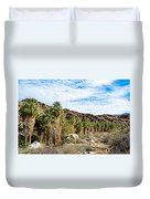 Fan Palms Line The Creek In Andreas Canyon In Indian Canyons-ca Duvet Cover
