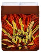 Fanciful Bold Floral Mosaic Duvet Cover