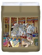 Fanciful Carousel Ponies Duvet Cover