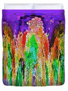 Fanciful Colors  Abstract Mosaic Duvet Cover