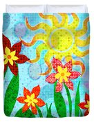 Fanciful Flowers Duvet Cover by Shawna Rowe