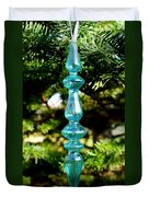 Fancy Blue Ornament Duvet Cover