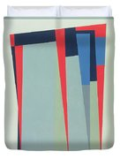 Fanfare, 1974 Acrylic On Gouache And Pencil Duvet Cover