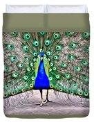Fanning Peacock Duvet Cover