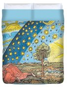 Fantastic Depiction Of The Solar System Duvet Cover