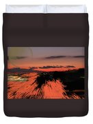 Fantastic Space Sunset Duvet Cover