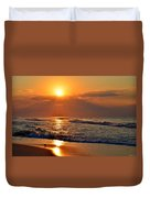 Fantastic Sunrise Colors Clouds Rays And Waves On Navarre Beach Duvet Cover