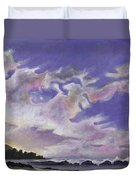 Fantastic Sunset North Shore Oahu Hawaii Duvet Cover
