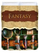 Fantasy Button Duvet Cover by Mike Savad